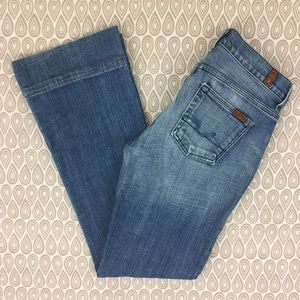 7 For All Mankind Women's Flare Jeans SZ 26X30 E54